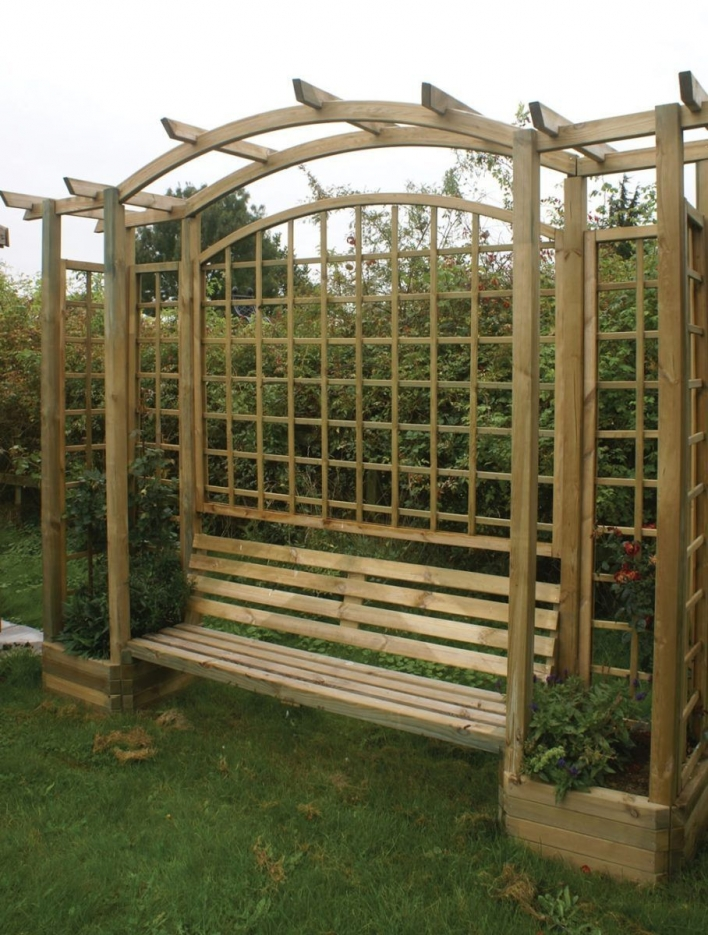 84 Backyard Decoration Ideas for Transform Your Backyard with A Quality Wood Pergola or Arbor 6365
