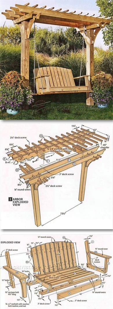 84 Backyard Decoration Ideas for Transform Your Backyard with A Quality Wood Pergola or Arbor 6374