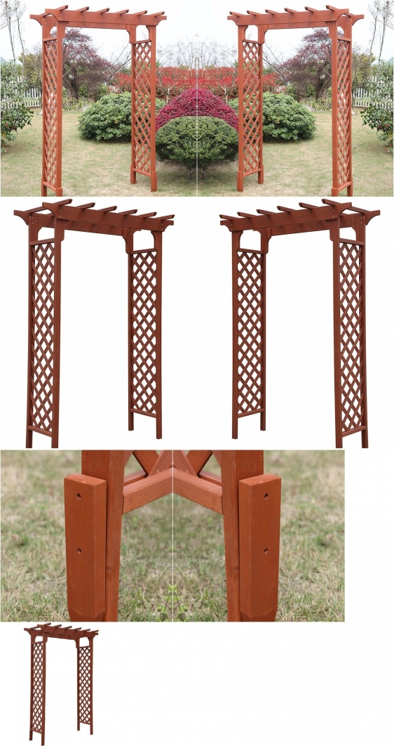 84 Backyard Decoration Ideas for Transform Your Backyard with A Quality Wood Pergola or Arbor 6337