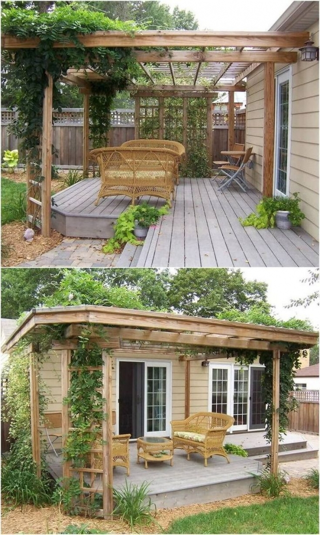 84 Backyard Decoration Ideas for Transform Your Backyard with A Quality Wood Pergola or Arbor 6411