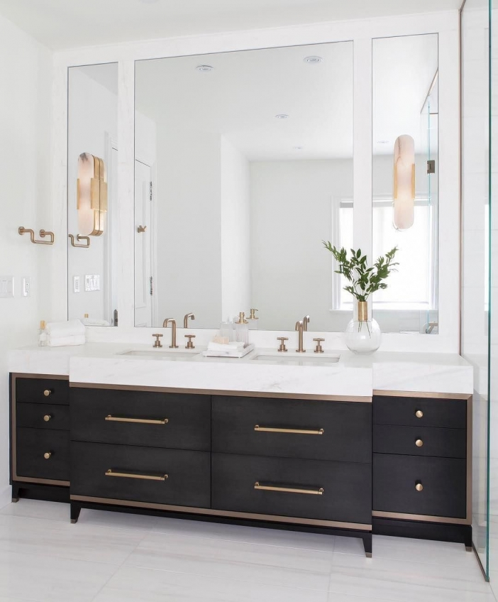 91 Modern Double Bathroom Vanity - is Your Modern Double Bathroom Vanity Large Enough to Accommodate Two People Simultaneously? 5888