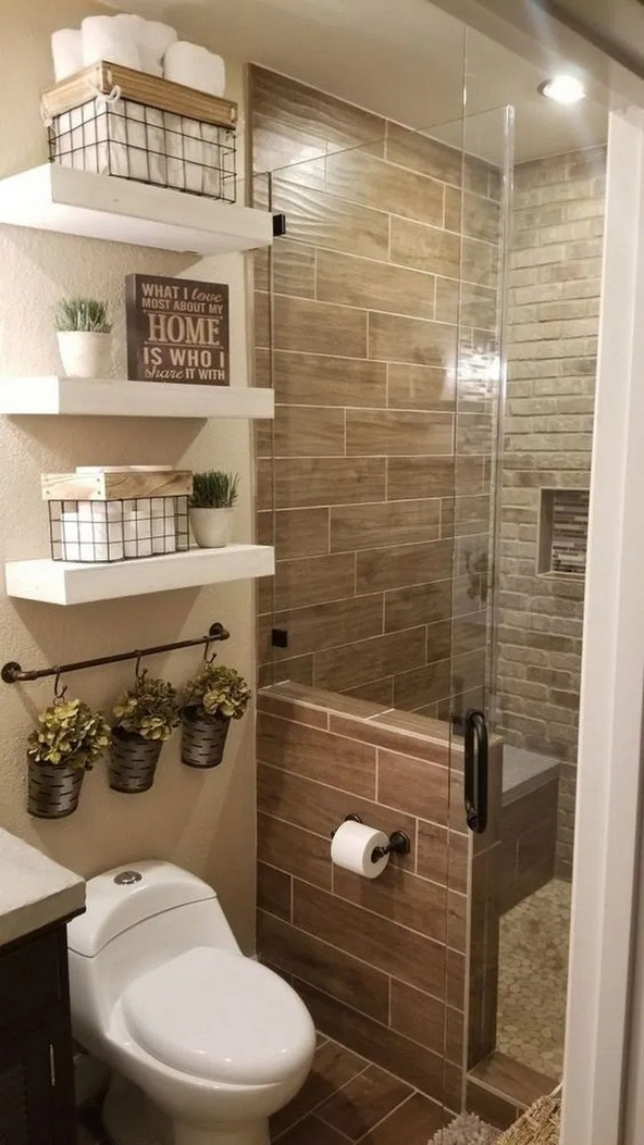 100 Awesome Design Ideas For A Small Bathroom Remodel 46