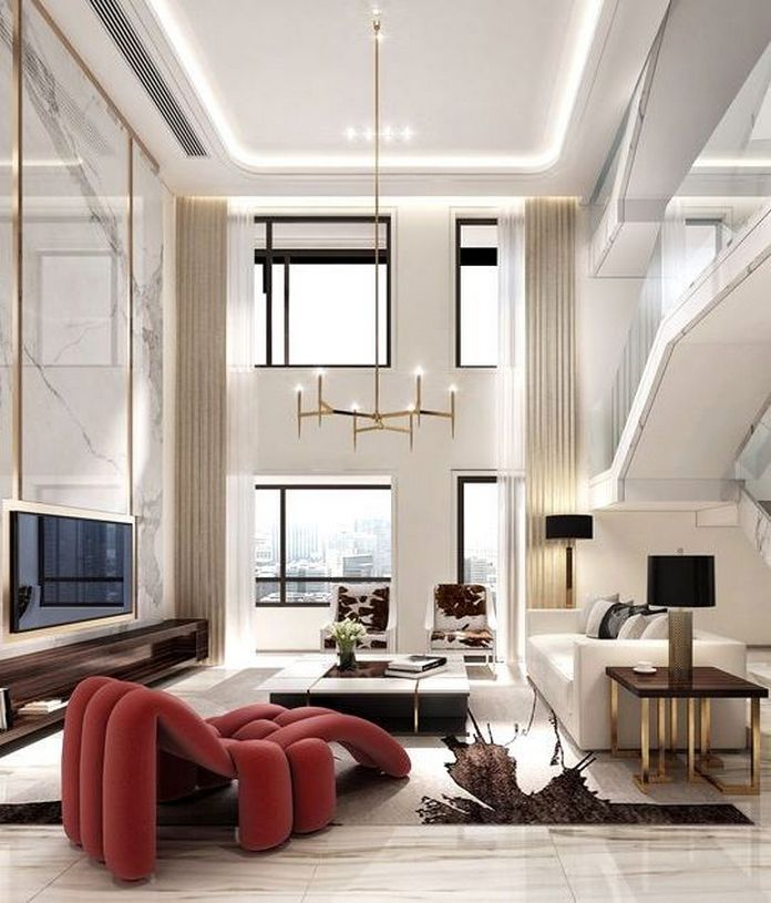 83 Interior Design Models That Look Luxurious And Are Designed To Decorate The Living Room 31