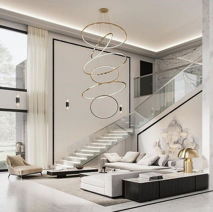 83 Interior Design Models That Look Luxurious And Are Designed To Decorate The Living Room 4