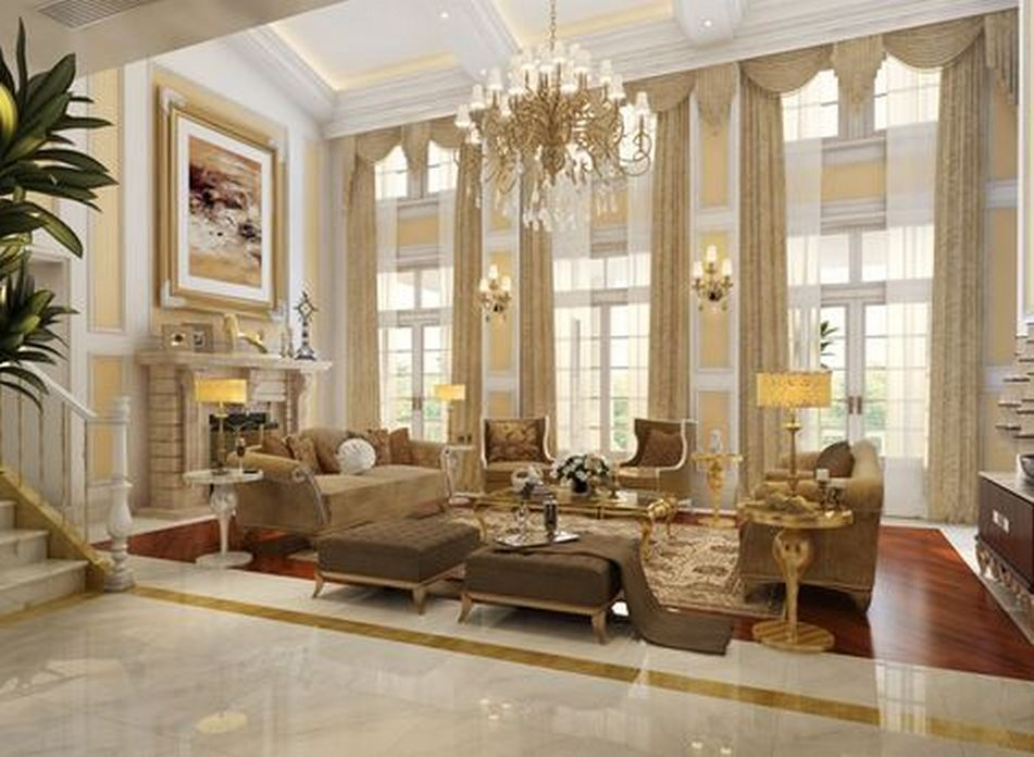 83 Interior Design Models That Look Luxurious And Are Designed To Decorate The Living Room 49