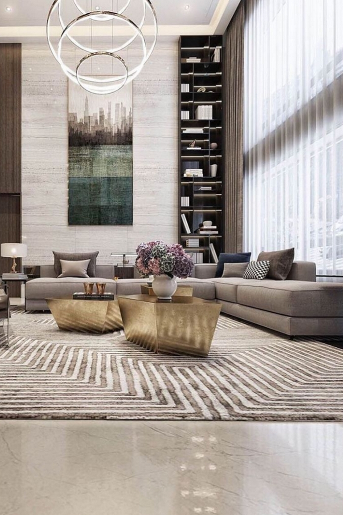 83 Interior Design Models That Look Luxurious And Are Designed To Decorate The Living Room 60