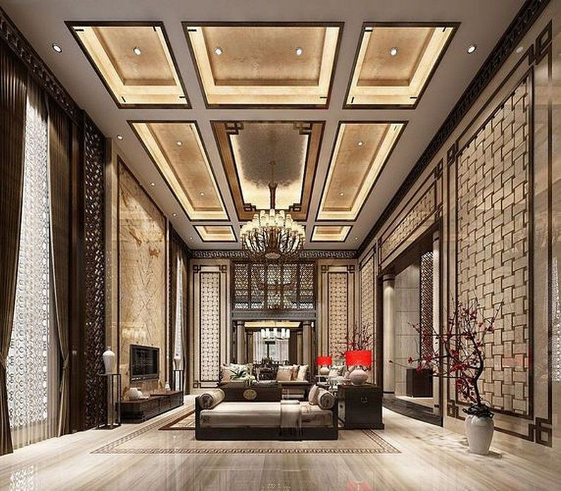 83 Interior Design Models That Look Luxurious And Are Designed To Decorate The Living Room 78
