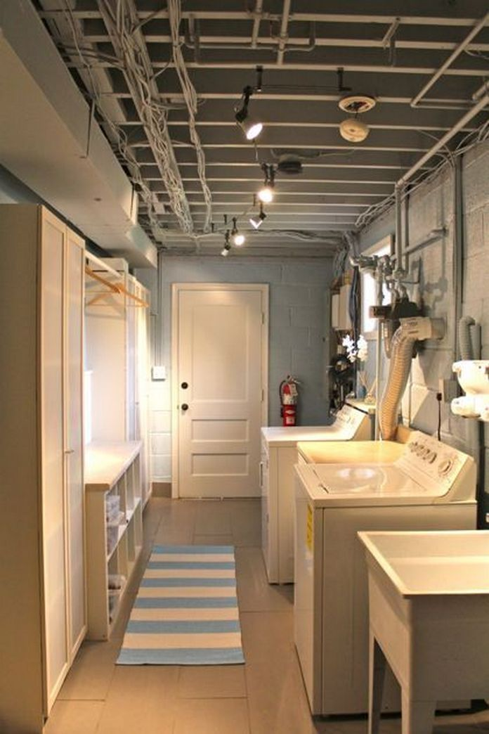 87 Outstanding Basement Laundry Rooms Decoration Models 33