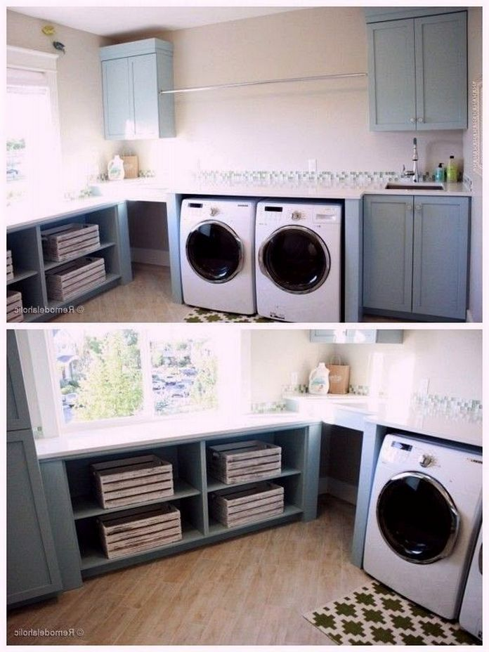 87 Outstanding Basement Laundry Rooms Decoration Models 41