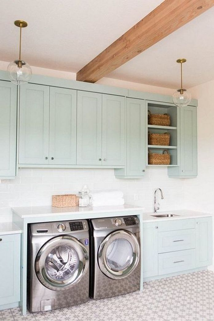 87 Outstanding Basement Laundry Rooms Decoration Models 85