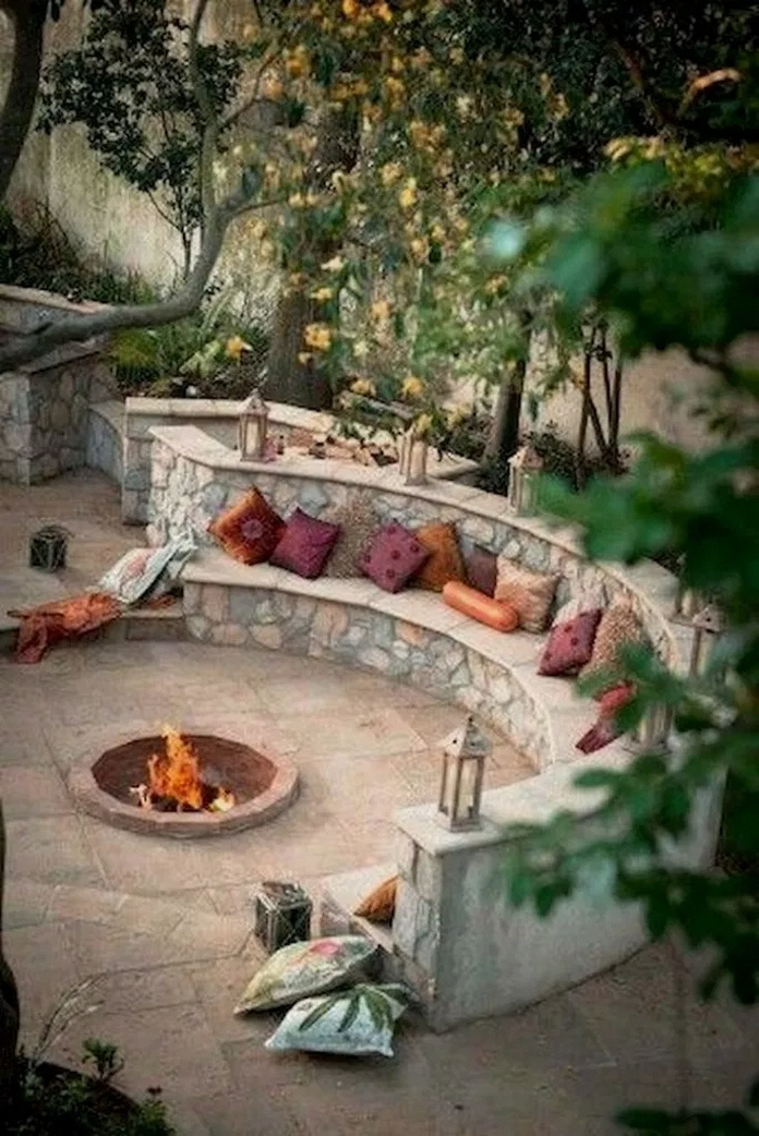 90 Fun Decoration Models Of Backyard Fire Pit Area 11