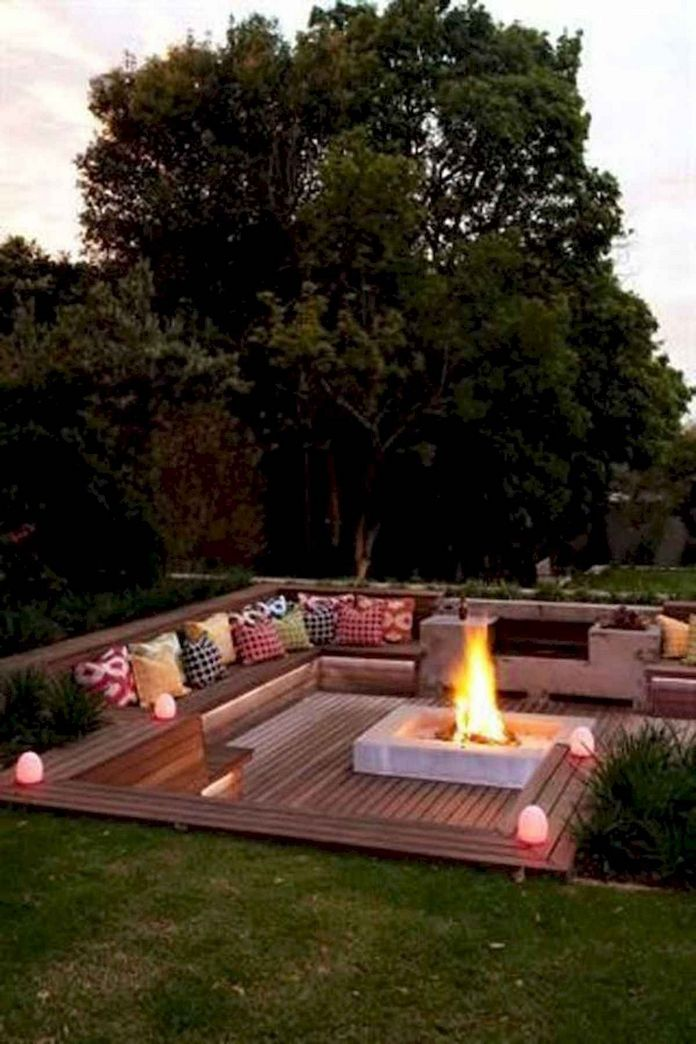 90 Fun Decoration Models Of Backyard Fire Pit Area 26