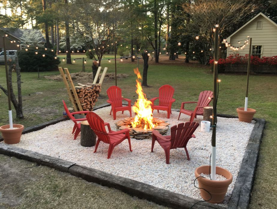 90 Fun Decoration Models Of Backyard Fire Pit Area 40