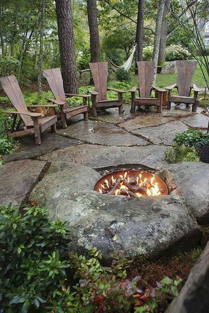 90 Fun Decoration Models Of Backyard Fire Pit Area 8