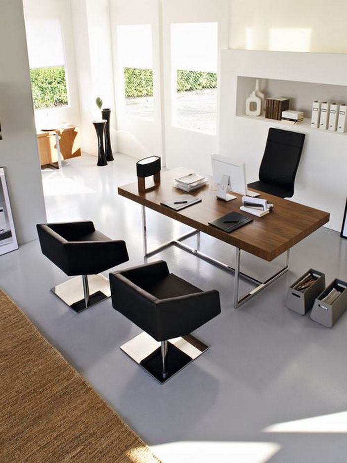 95 Modern Office Decorating Ideas With Inspiring Furniture To Add Style And Functionality To Your Workplace 47