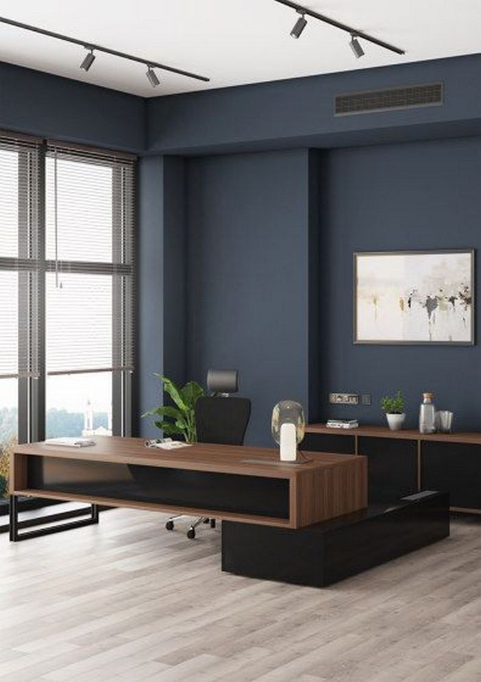 95 Modern Office Decorating Ideas With Inspiring Furniture To Add Style And Functionality To Your Workplace 72