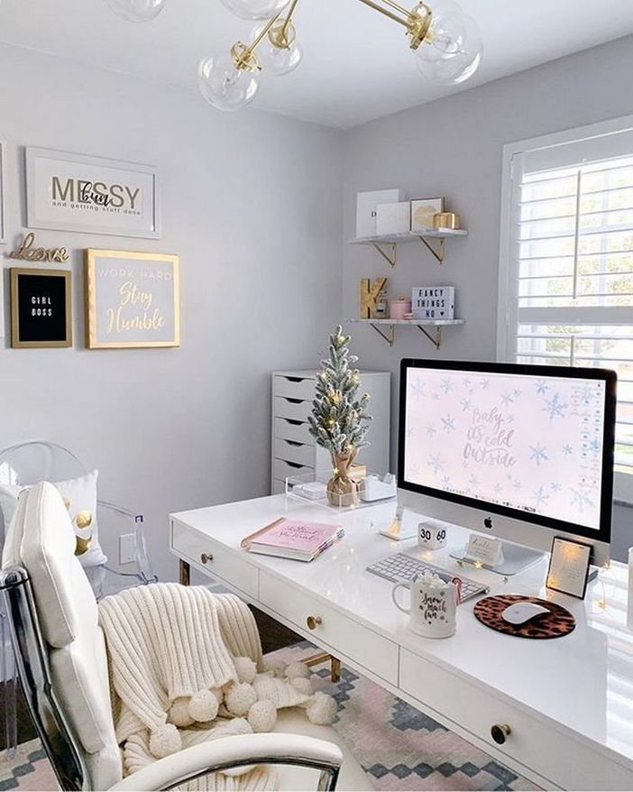 98 Perfect Home Office Decoration Models And Tips For Making Them 22