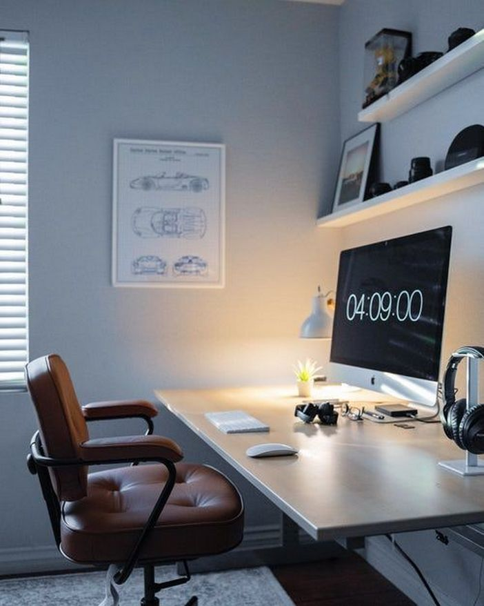 98 Perfect Home Office Decoration Models And Tips For Making Them 54