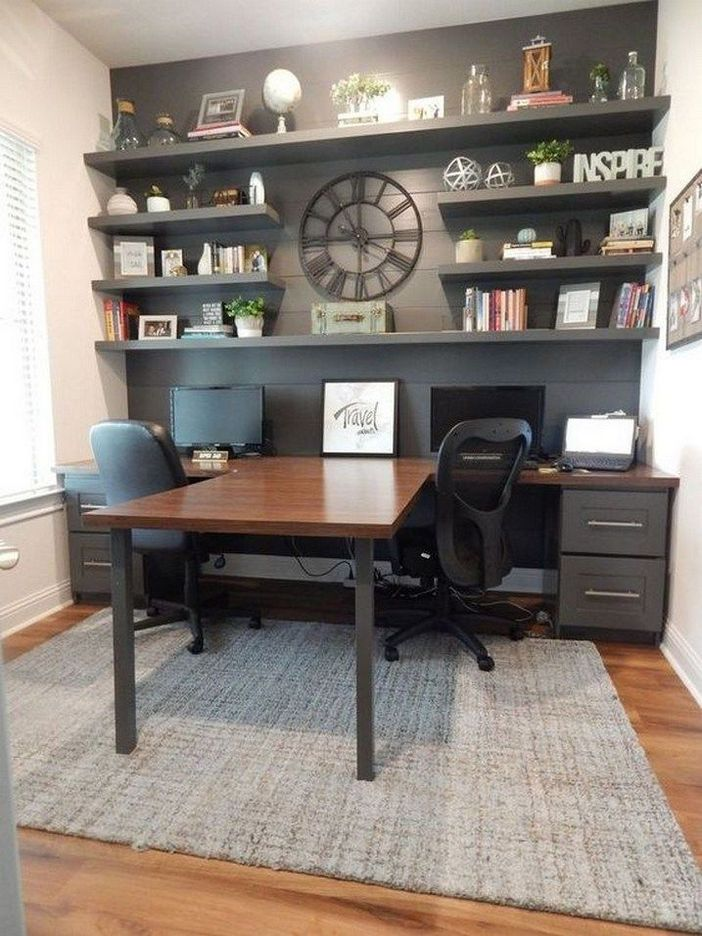 98 Perfect Home Office Decoration Models And Tips For Making Them 66