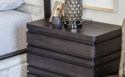 Bedroom Decor Models With Solid Wood Tables With Beautiful Drawers Beside 10