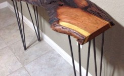 Live Edge Wood Console Table 18