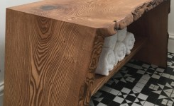 Live Edge Wood Console Table 56