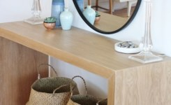 Wood Waterfall Console Table 22