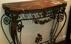 Wood Waterfall Console Table 45