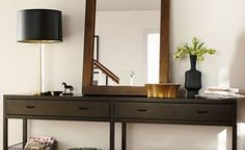Wood Waterfall Console Table 81