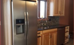 Natural Hickory Cabinets With Quotsilver Pearlquot Granite On Rustic Hickory Kitchen Cabinets Of Rustic Hickory Kitchen Cabinets 1