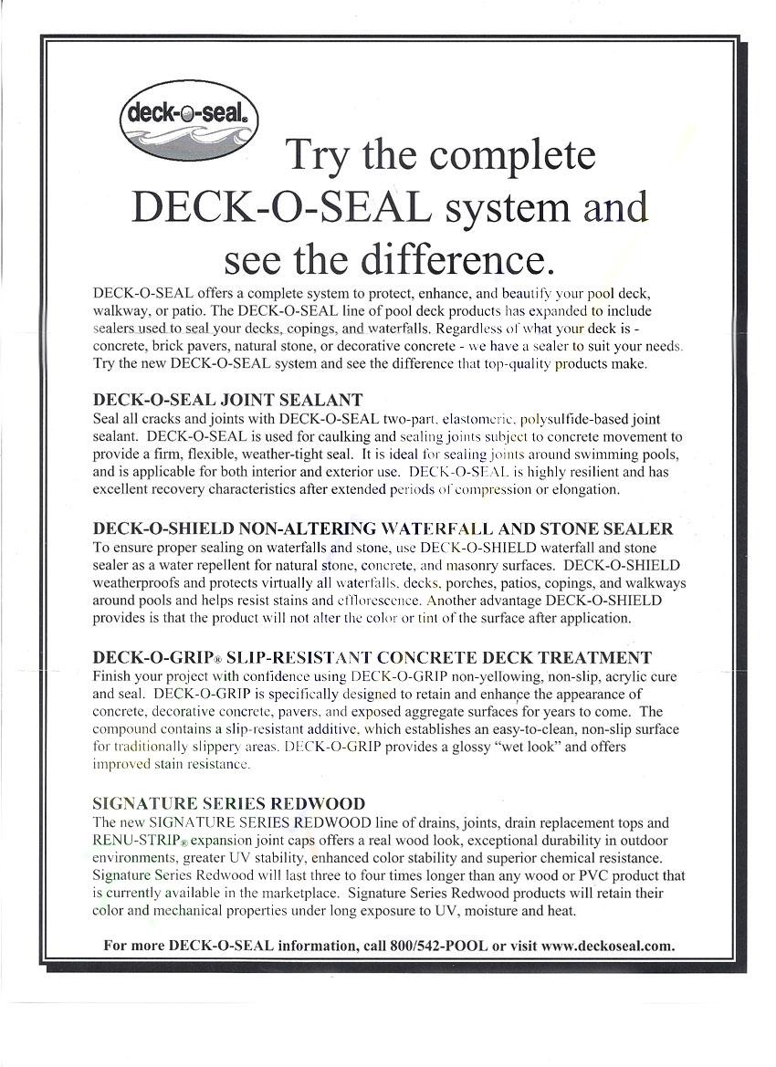Deck O Seal Deck O Seal Pool Deck Sealant Tan 96 Oz