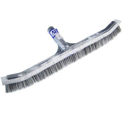 A&B 24 inch Curved Combination Swimming Pool Wall Brush 3024