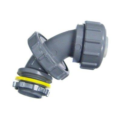 CMI 1/2 inch PVC 90 Degree Adjustable Connector Liquidtight NMLC