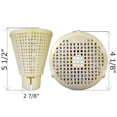 Inverted Pool Skimmer Strainer Basket V50-120