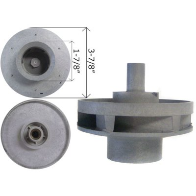 Waterway Impeller Hi-Flo Side Discharge 2 HP Pump 310-4030