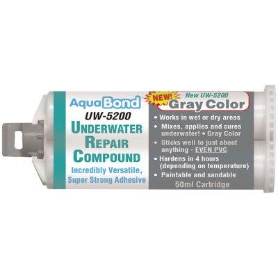 AquaBond Underwater Pool Repair Epoxy 50ml. Cartridge Gray UW-5200