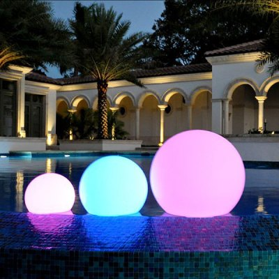 ChillLite Balloon Swimming Pool Patio LED Light Wireless 75-BAL-R13131
