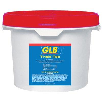 GLB Swimming Pool Chlorine 3in. Jumbo Tablet Triple Tab Jumbo 22.5 lb