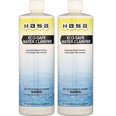Hasa Eco-Safe Swimming Pool Water Clarifier 32oz. 80121 - 2 Pack