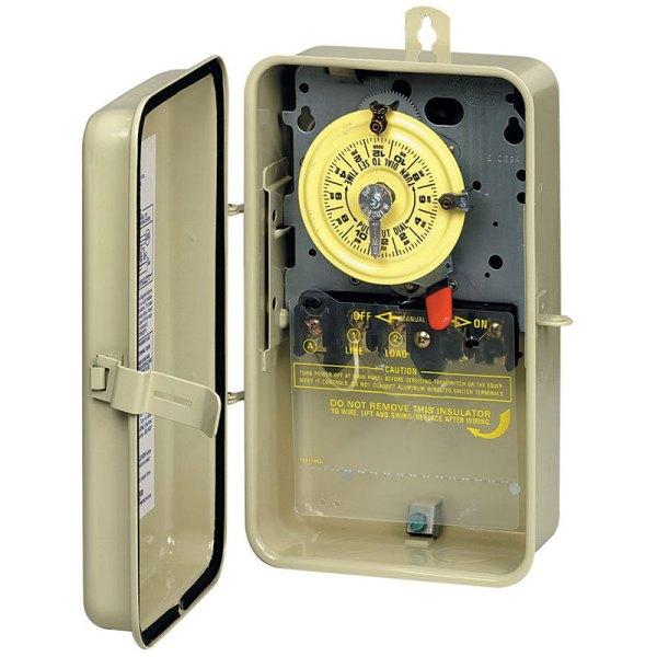 Intermatic Mechanical Timer In Metal Enclosure 110V SPST T101R3