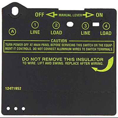 Intermatic T100 Series Timer Insulator 124T1952