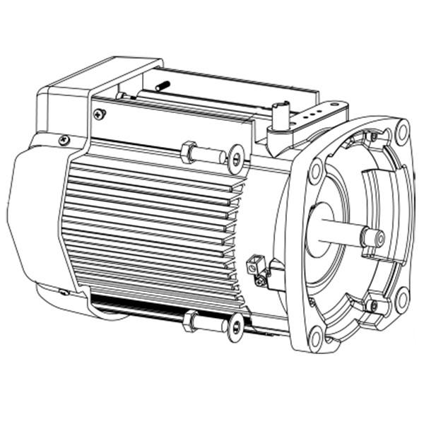 Pentair SuperMax Variable Speed Pump TEFC Motor Black