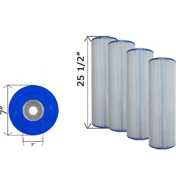 Quad Pack Cartridge Filter Hayward CX880XRE C-7488 - 4 Pack