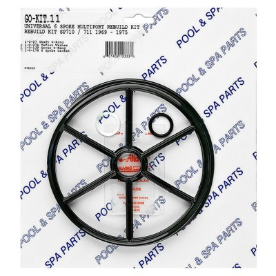 Rebuild Seal Kit SP710 SP711 Universal 6-Spoke Multiport Valve GO-KIT11