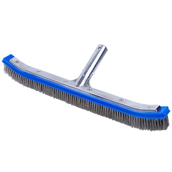 Swimming Pool Curved Stainless Steel Bristles Brush 18 inches 11025S