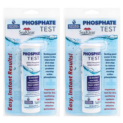 Swimming Pool Water Phosphate Test Strip Kit 10081NCM - 2 Pack