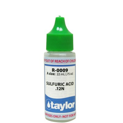Taylor Dropper Bottle 0.75 oz Sulfuric Acid 12N R-0009-A