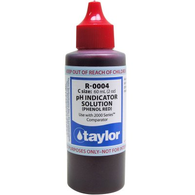 Taylor Dropper Bottle 2 oz pH Reagent Phenol Red R-0004-C