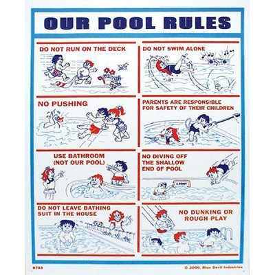 Valterra Swimming Pool Sign Our Pool Rules 18″ x 24″ B8703