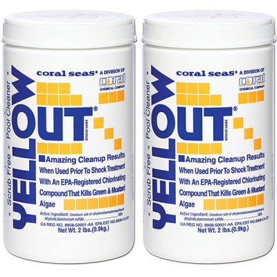Yellow Out 2 lb. Algaecide Coral Seas CS1003 07612 17612COR - 2 Pack